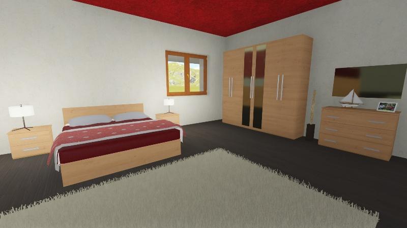 Camera Da Letto Rovere Bianco : Camera da letto con particolari in essenza rovere miele con